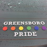 Greensboro Pride Car sticker