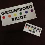 Greensboro Pride stickers