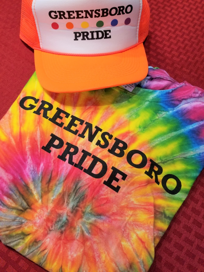 greensboro pride t-shirt and hat